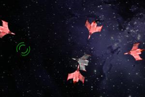 躲避疯狂的太空战斗机