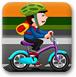 男孩自行車表演賽