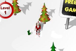 圣诞老人滑雪送礼物